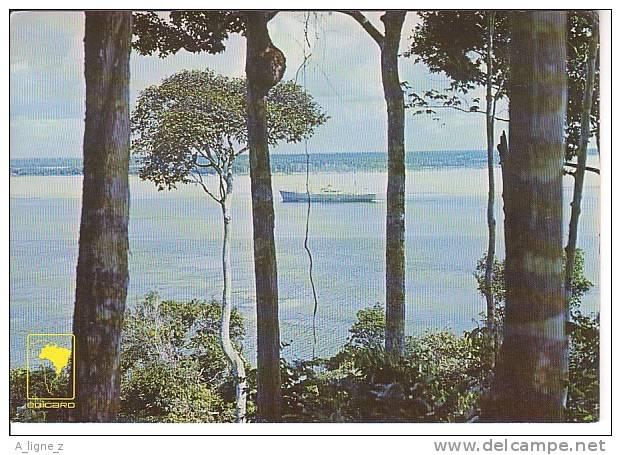 AA CPSM Brésil Manaus Encontro Das Aguas - Bateau - Manaus