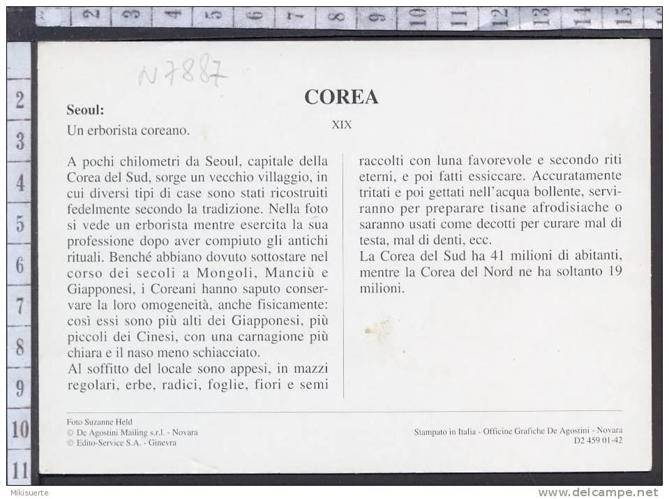 N7887 COREA SEOUL UN ERBORISTA COREANO Cartoline Dal Mondo De Agostini - Corea Del Sud