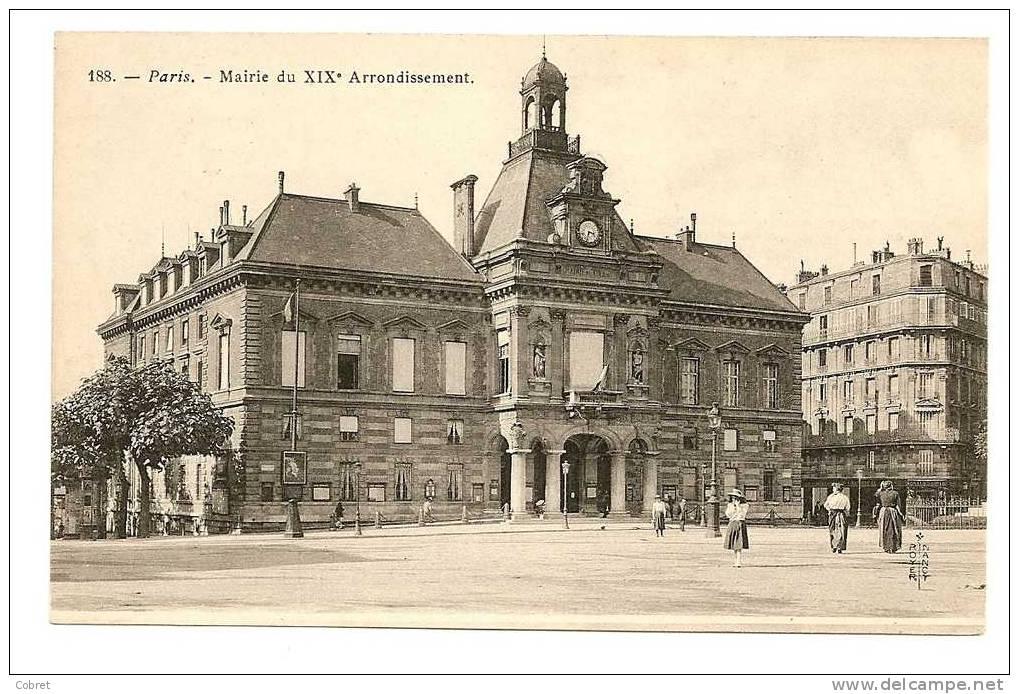 PARIS - La Mairie Du XIX Arrondissement - Arrondissement: 19