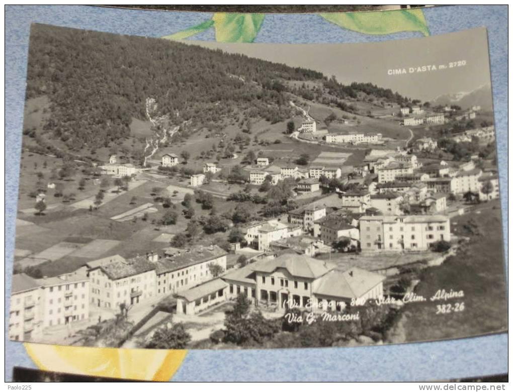ENEGO Via G. Marconi Cima D'Asta 1967 BN VG - Vicenza