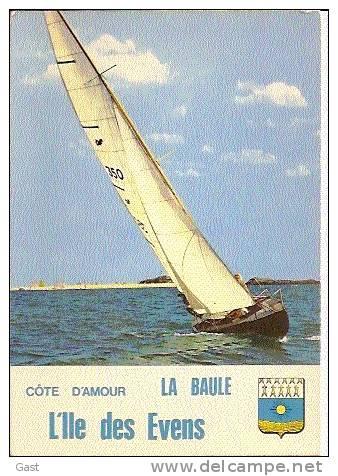 LA   BAULE    LA COTE  D  AMOUR     VOILIERS  A   L     ILE   DES   EVENS - La Baule-Escoublac