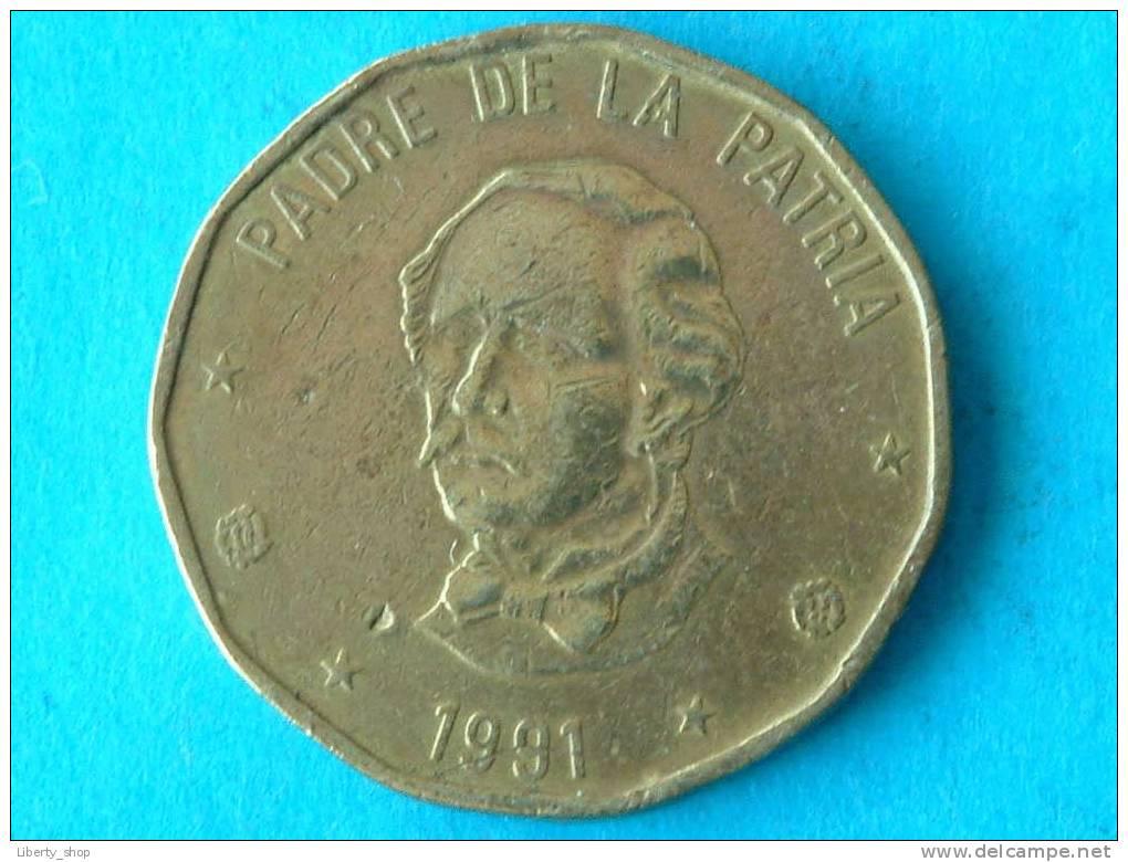 1 PESO 1991 VF / KM 80.1 ! - Dominicaine