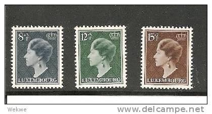 Lux Mi.Nr.439-41/  LUXEMBURG - Marken Aus Bl. 7, Herzogin Charlotte Jubläum ** - Luxemburg
