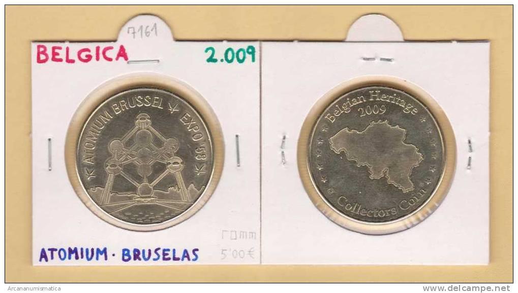 BELGICA  ATOMIUN  BRUSELAS 2.009  UNC/SC      DL-7161 - Bélgica