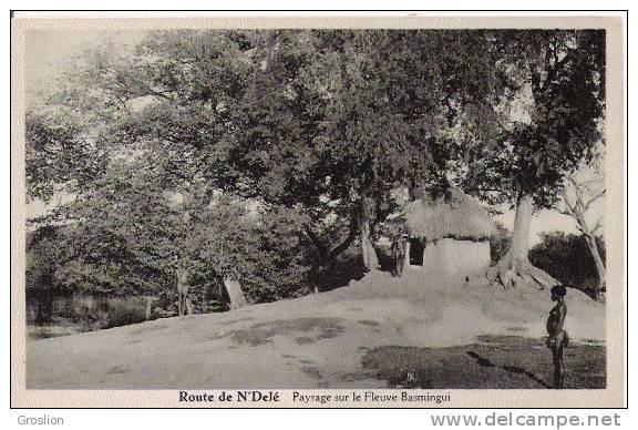 ROUTE DE N'DELE  PAYSAGE SUR LE FLEUVE BASMINGUI - Centrafricaine (République)
