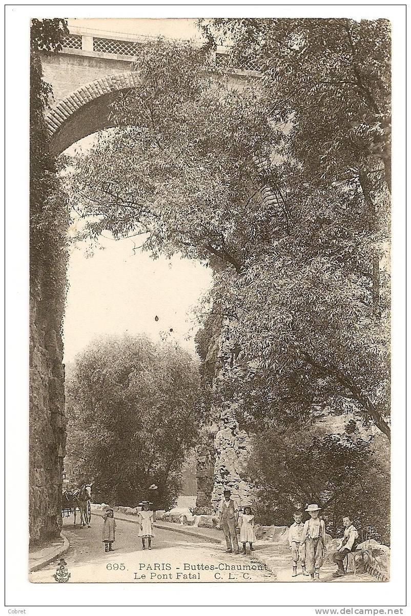 PARIS - Buttes Chaumont, Le Pont Fatal - Arrondissement: 19