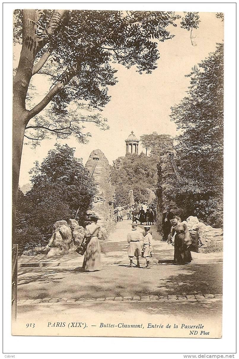 PARIS - Buttes Chaumont, Entrée De La Passerelle - Arrondissement: 19