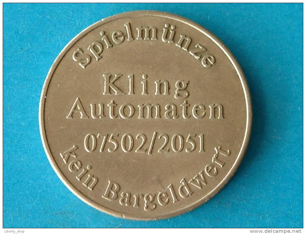 KLING AUTOMATEN 07502/2051 - Spielmünze Kein Bargeldwert / Klingothek Joker ! - Casino