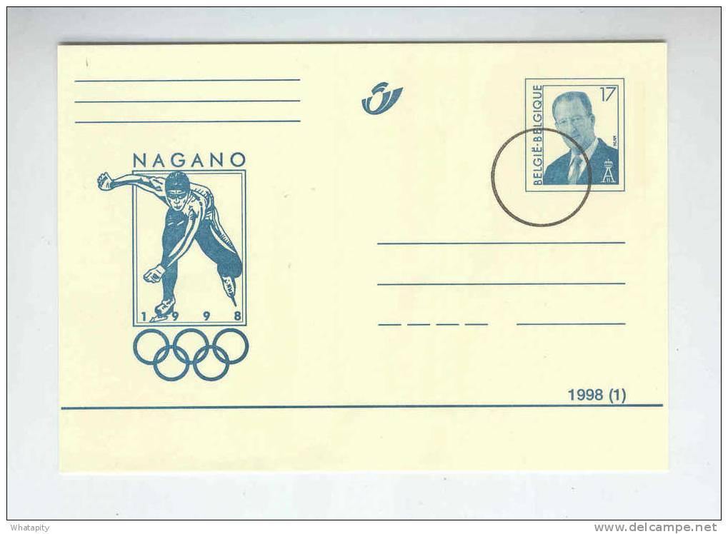 Carte PUBLIBEL JEUX OLYMPIQUES NAGANO 1998/1  Neuve - Annulation SPECIMEN Pour La Presse  --  B2/354 - Stamped Stationery