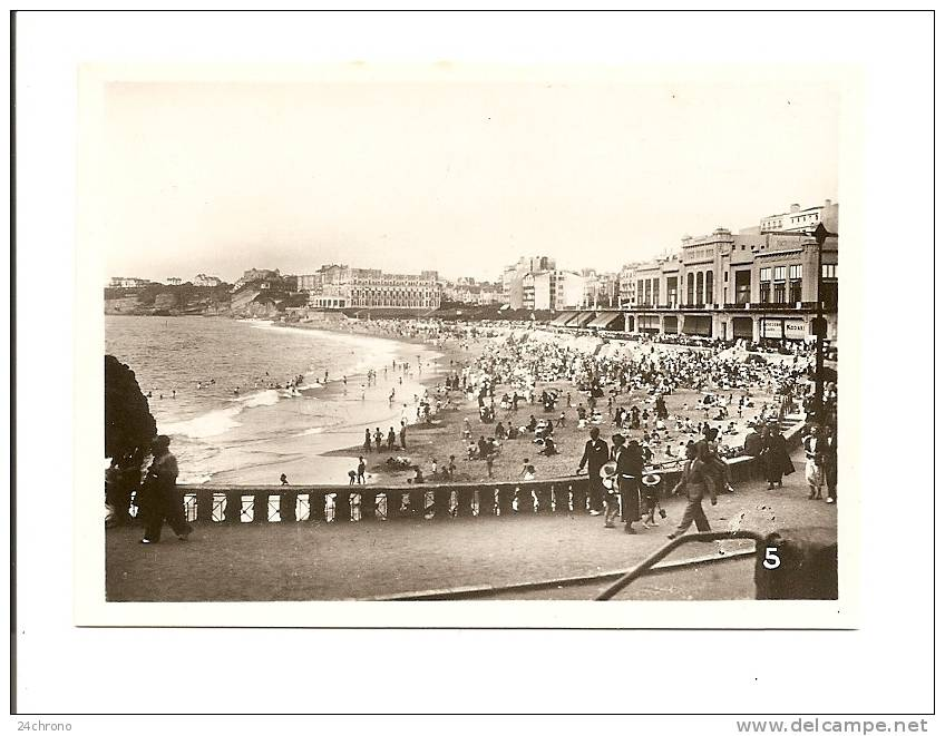 Photographie: Biarritz, L´ Heure Du Bain à La Grande Plage (09-1509) - Lieux