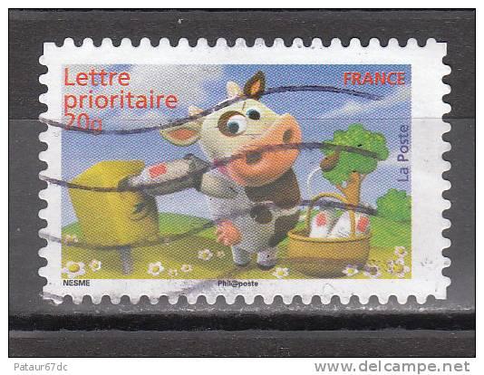 FRANCE / 2007 / Y&T N° 4091 Ou AA 136 : Vache (postant Son Courrier) - Usuel (marge D = 2 X La Marge G) - France