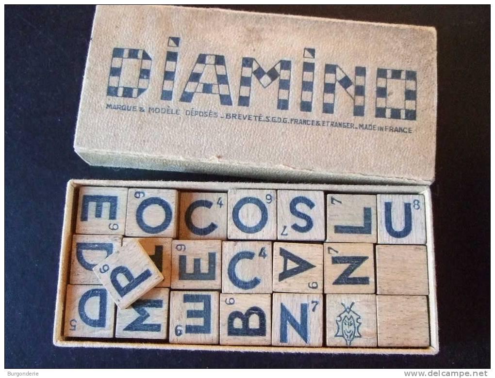 ANCIEN JEU DE DIAMINO EN PARFAIT ETAT / BOITE STANDARD AVEC NOTICES/ PIONS EN BOIS - Jeux De Société