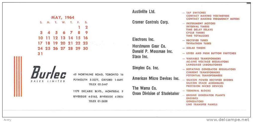Burlec Sales Limited List Of Companies Toronto, Montreal 9in X 41in 23cm X 10cm - Electricité & Gaz