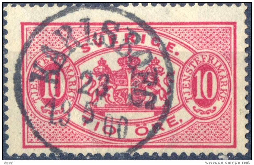 Zw568:  TJ16B: Getand: 13: KARLSBORG - Dienstzegels