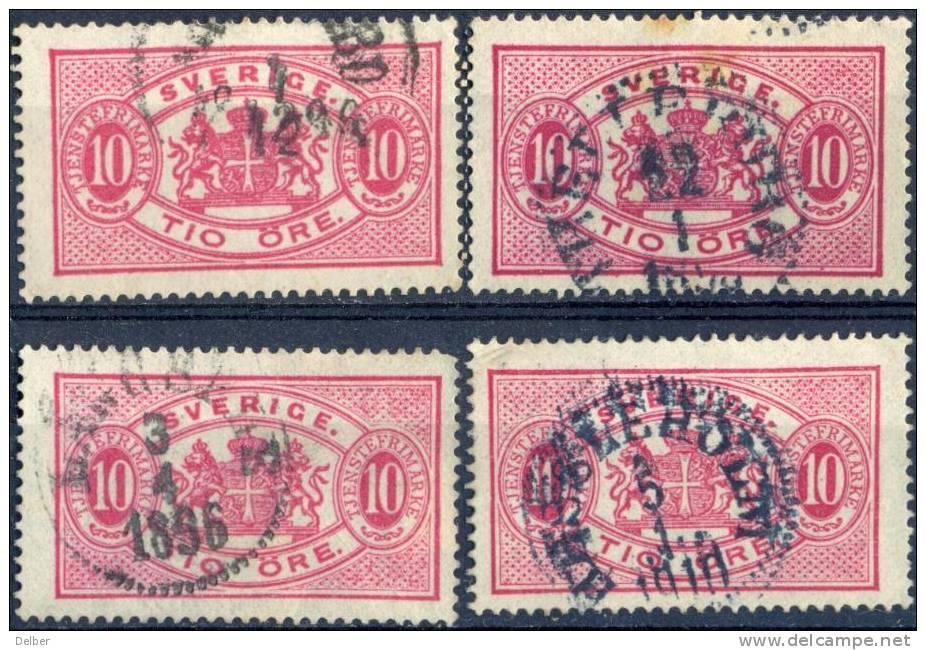 Zw560:  TJ16B: Getand: 13:  4 Zegels... - Dienstzegels