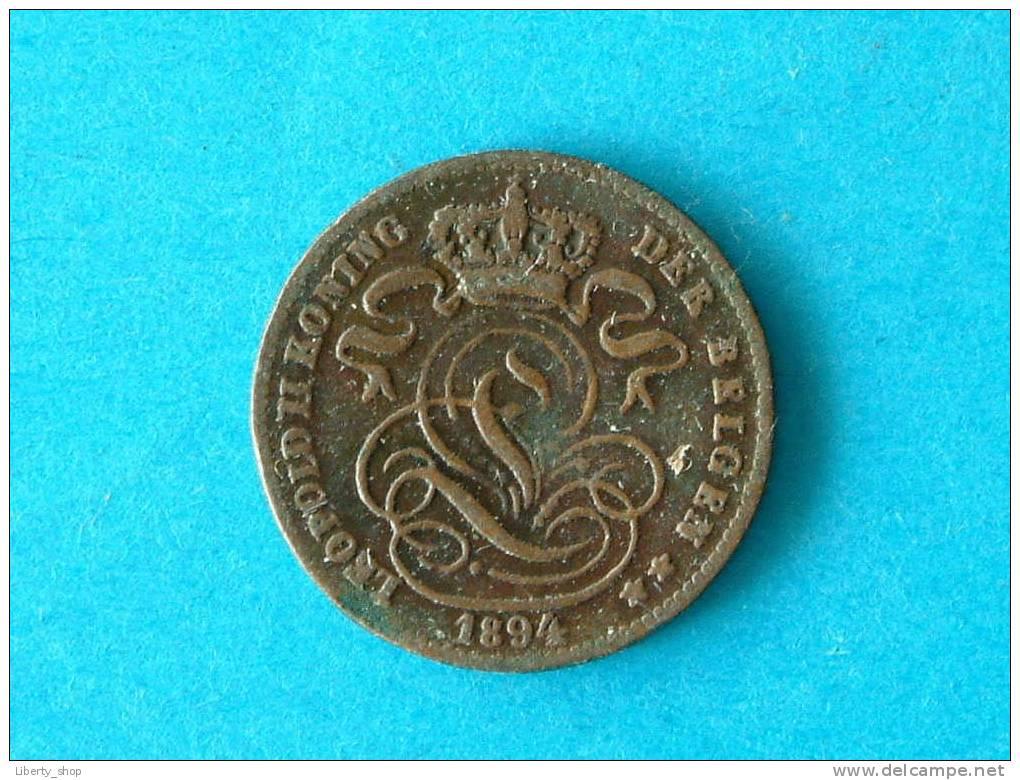 1 CENT VL - 1894 (227) ! - 1865-1909: Leopold II
