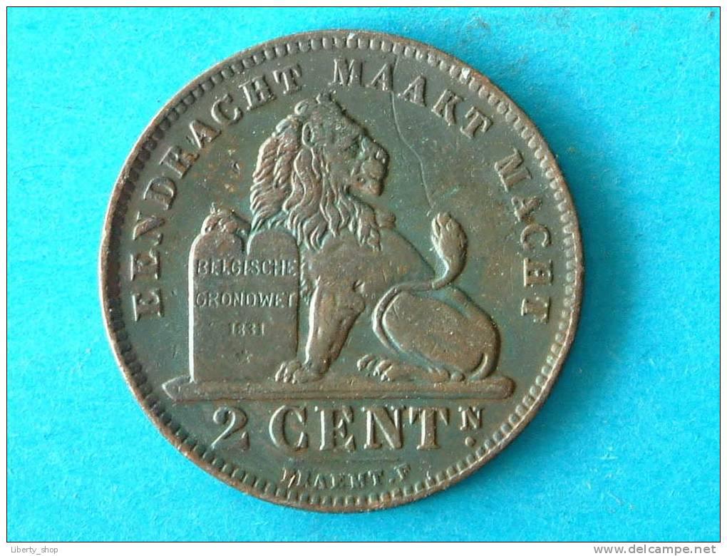2 CENT VL - 1912 (313) ! - 1909-1934: Albert I