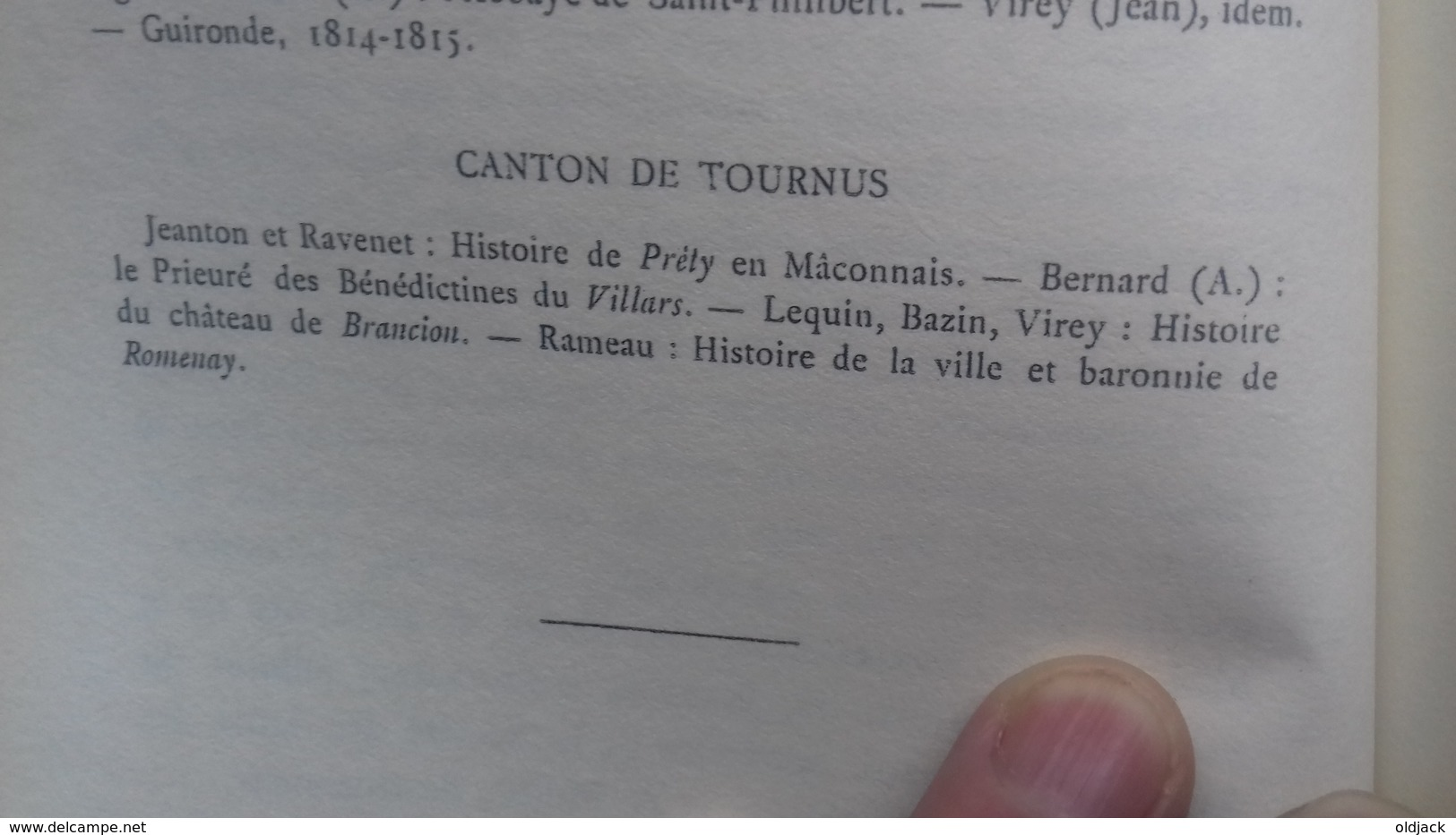 """DARD C./TREZENEM E.""""TOURNUS ET SON CANTON"""" Géographie Et Histoire(S&L) (col12d) - Bourgogne"""