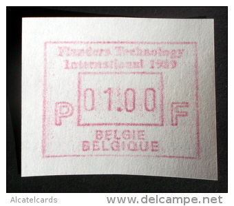 ATM Flanders 89 B Papier RRR! (OPLAGE.:12ATM: 9 ATM  Van 1,-Bef + 1 Reeks Van 3 ATM) - Vignettes D'affranchissement