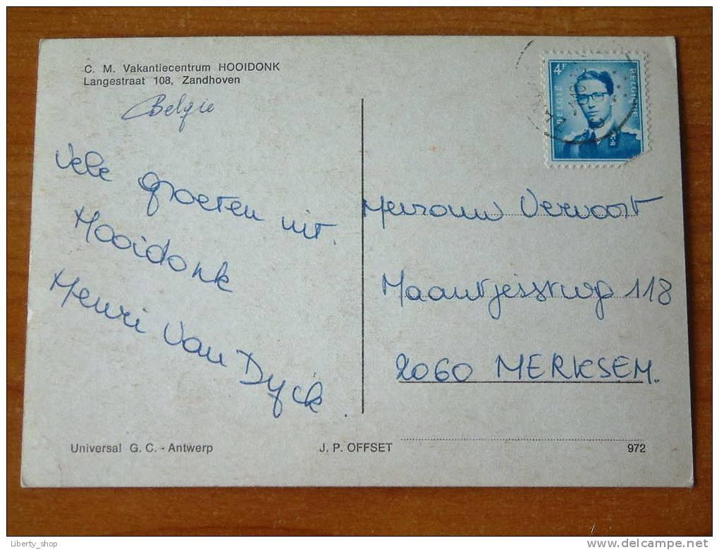 """C.M. Vakantiecentrum """" HOOIDONK """" / Anno 1973  !! - Zandhoven"""