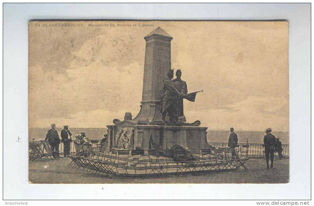 Carte-Vue  EXPRES TP Albert 15 Cachets Télégraphiques BLANKENBERGHE 1919 Vers BRUXELLES MIDI --  LL / 718 - 1915-1920 Albert I