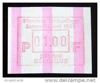 ATM. Flanders ´89 B Papier . Eindstrepen. OPLAGE: 7 ATM Met Eindstrepen. - Vignettes D'affranchissement