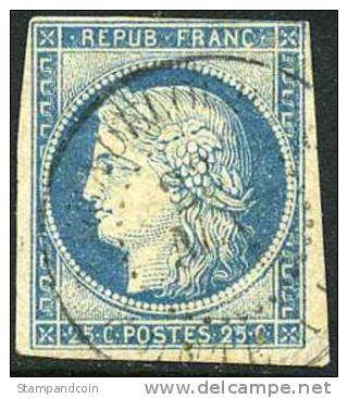 France Colonies #12 Used 25c Ceres Of 1872 - Ceres