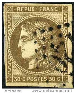 France #46 Used 30c Ceres Of 1870 - 1871-1875 Ceres