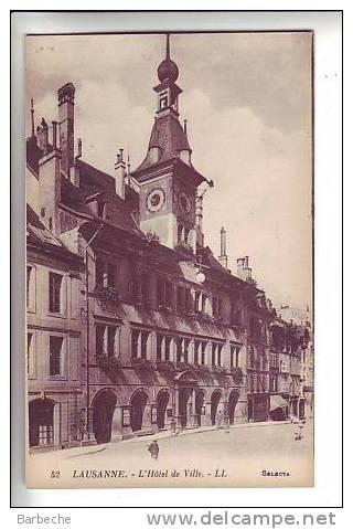 LAUSANNE .- L' Hôtel De Ville - VD Waadt