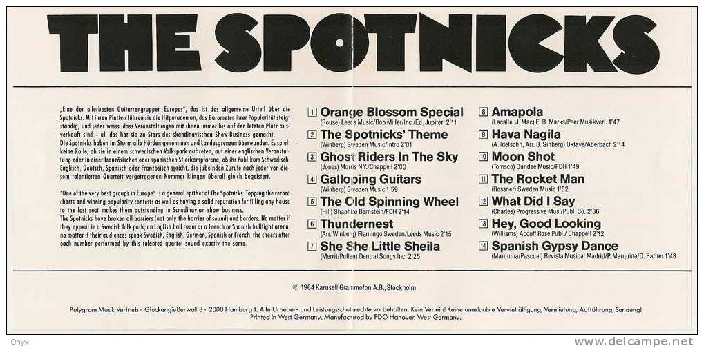 THE SPOTNICKS - Instrumental
