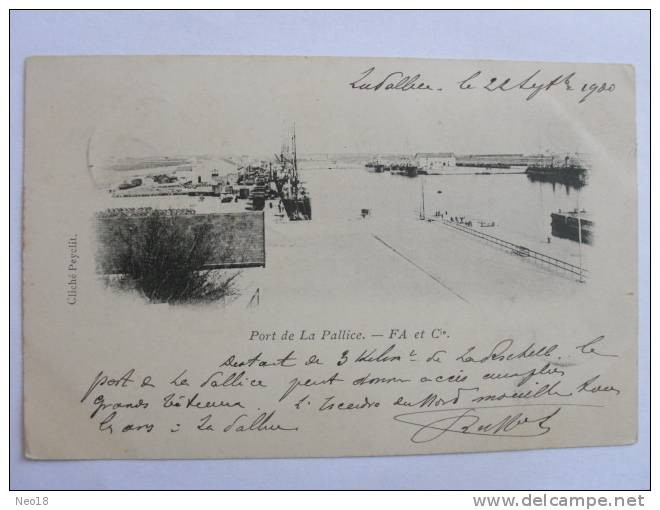 LA ROCHELLE PORT LA PALLICE TIMBREE 1900 - La Rochelle