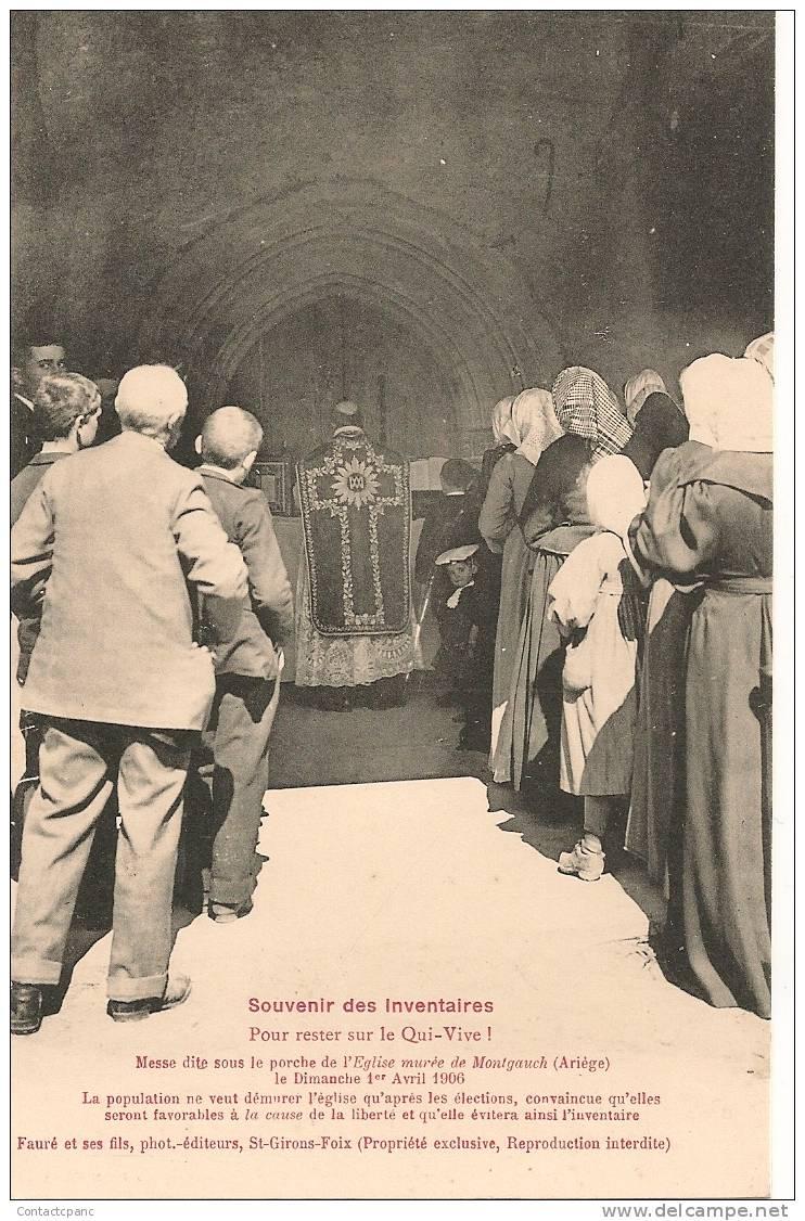 MONTGAUGH  -  Souvenir Des Inventaires  1906  ( Curé De Dos ) - France