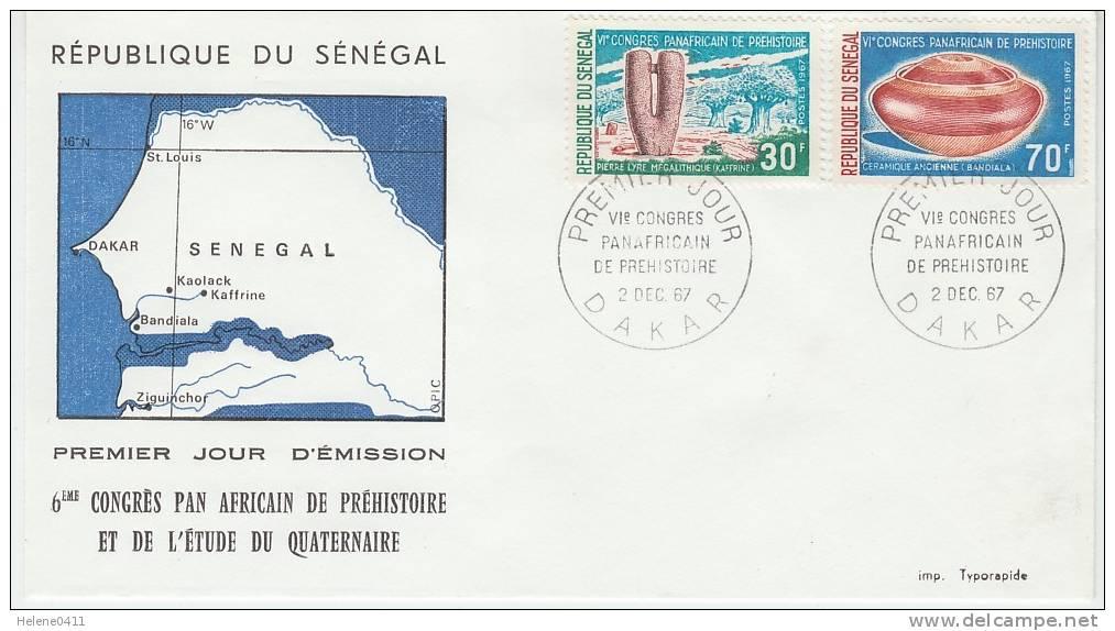 ENVELOPPE 1ER JOUR DU SENEGAL - 6EME CONGRES PANAFRICAIN DE PREHISTOIRE ET DE L'ETUDE DU QUATERNAIRE - Preistoria