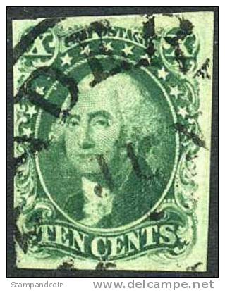 US #13 Used 10c Washington From 1855 - Used Stamps