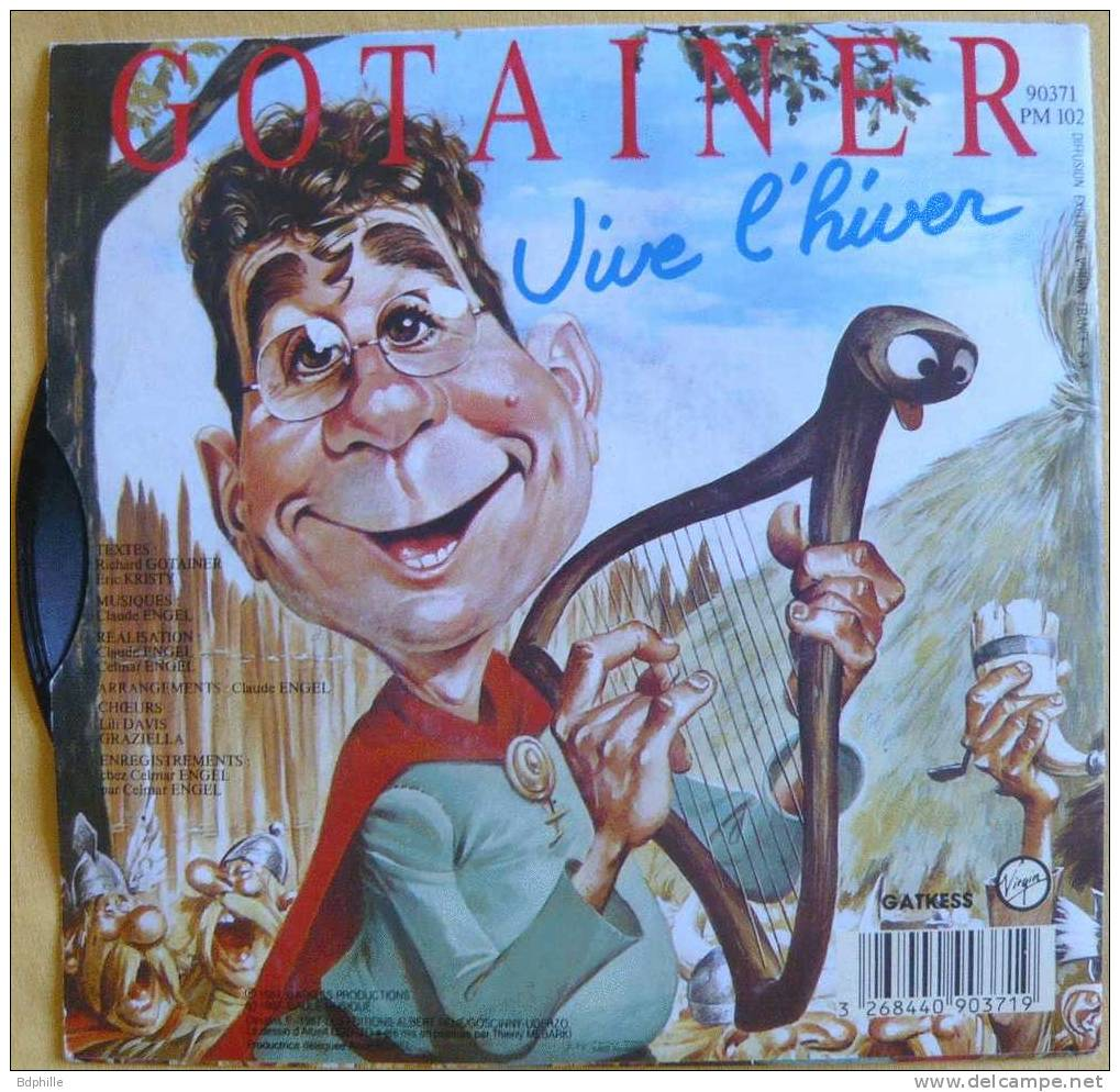 Asterix Uderzo Gotainer La Gaudriole Disque 45T - Disques & CD