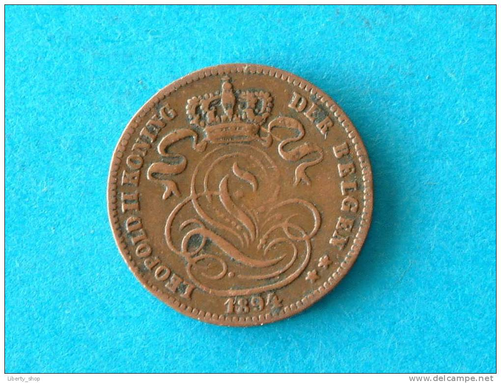 1894 VL 1 Centiem XF ! - 1865-1909: Leopold II