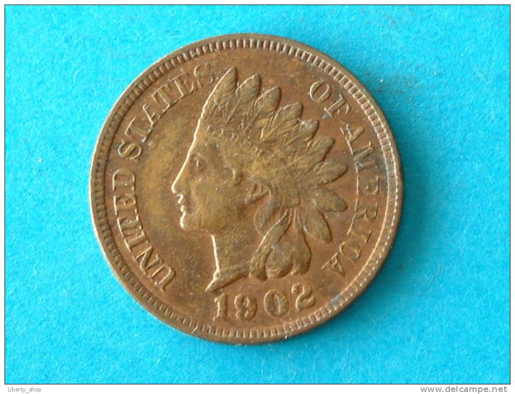 1902 - INDIAN ONE CENT XF / KM 90 A ! - 1859-1909: Indian Head