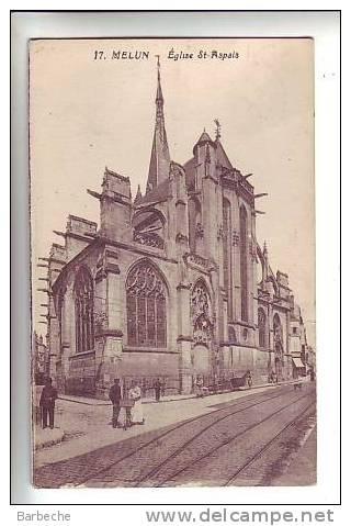 77. MELUN . Eglise St-Aspais        77/ - Melun