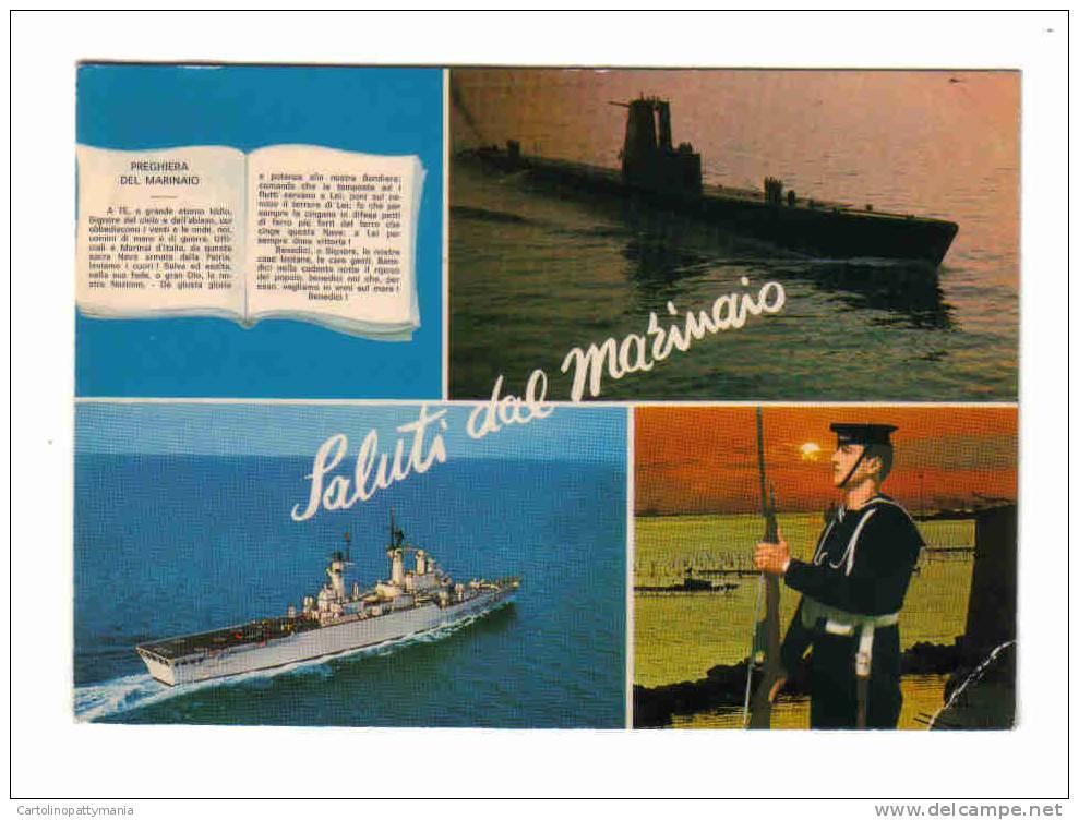 Saluti Dal Marinaio Taranto Con La Preghiera E Navi Militari - Guerra