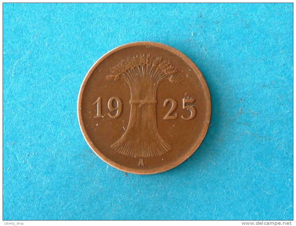 1925 A - 1 REICHSPFENNIG - XF / KM 37 ! - [ 3] 1918-1933 : Weimar Republic