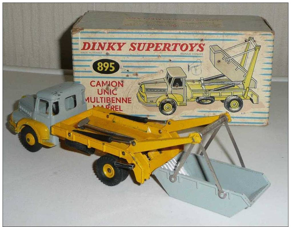 dinky toys camion unic multibenne marrel r f 38a 895 avec boite d origine. Black Bedroom Furniture Sets. Home Design Ideas