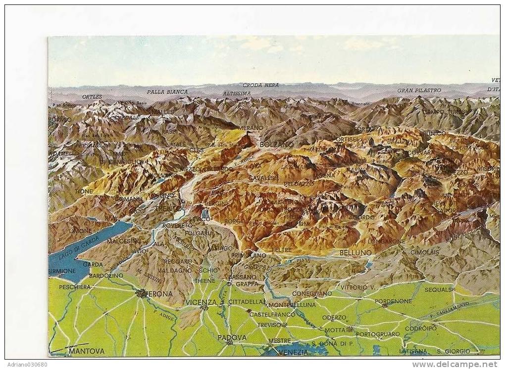 Bella Cartolina Prospettiva Dall Alto Del Complesso Delle Dolomiti Lago Di Garda Belluno - Teramo