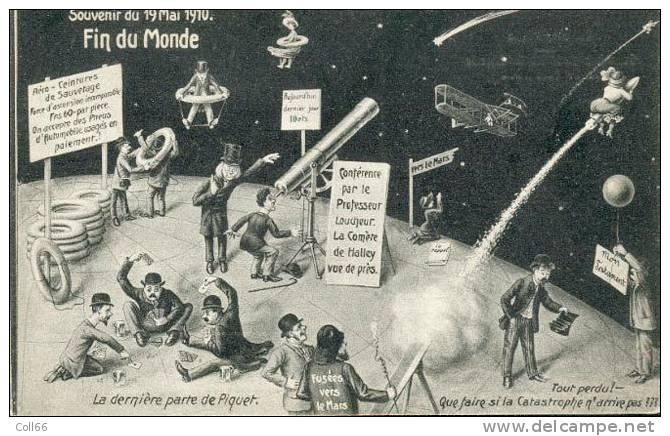 19 Mai 1910 Comète De Halley Souvenir De La Fin Du Monde Editeur F.M.Cologne Old Card Guenuine Cpa Bon état Non Voyagé - Astronomie
