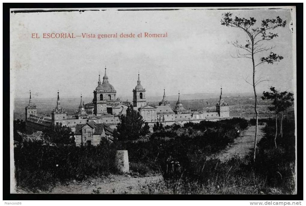 El Escorial - Vista General Desde El Romeral - Tarjeta Blanca - - Madrid