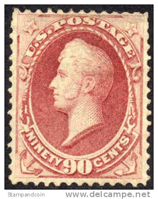 US #155 Mint Hinged 90c Commodore Perry From 1870 - Unused Stamps