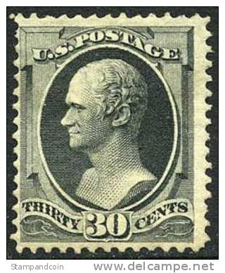US #165 Mint Hinged 30c Hamilton From 1873 - Unused Stamps