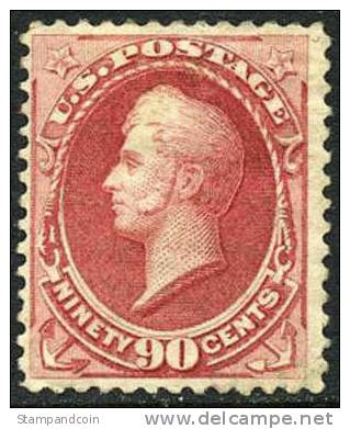 US #166 Mint Hinged 90c Commodore Perry From 1873 - Unused Stamps