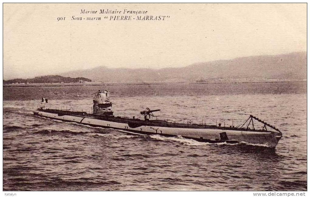 """Marine Militaire Française - Sous-Marin """" PIERRE-MARRAST """" - Guerra"""