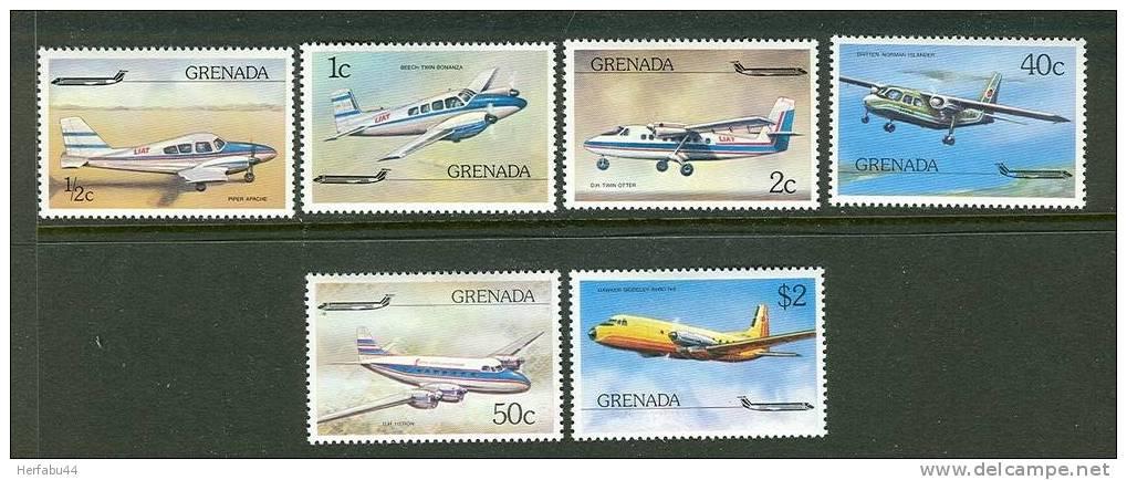 Grenada   Airplanes  Set   SC#  749-54  Mint - Avions