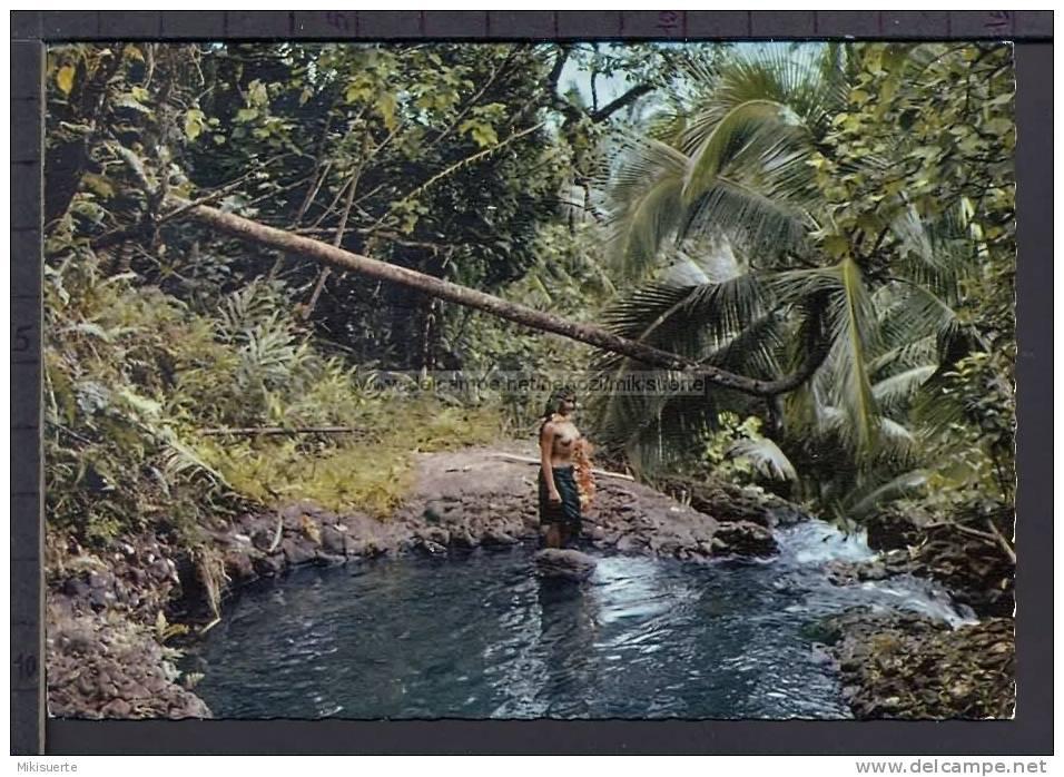 N8233 TAHITI SOUS BOIS POLYNESIEN GIRL Pin-up Topless - Tahiti